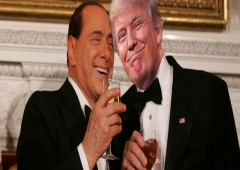 """Trump: il Cavaliere a """"stelle e strisce"""""""