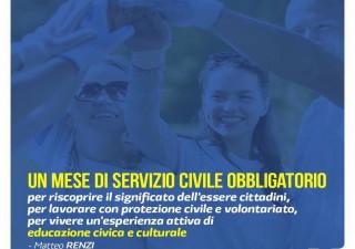 Servizio civile obbligatorio: la proposta di Matteo Renzi