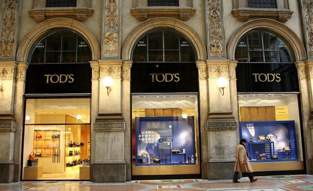 Un negozio di Tod's a Milano