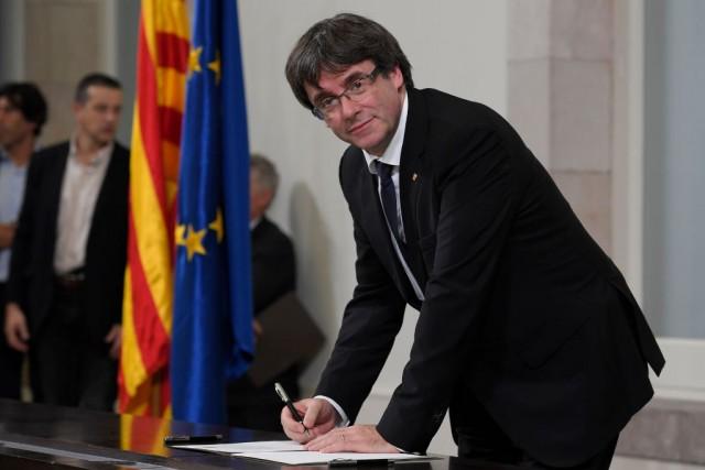 Il presidente della Catalogna Carles Puigdemont