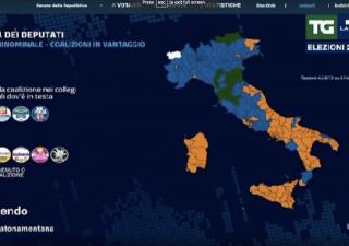 Come cambia l'Italia, M5S fa en plein al sud, centro destra al Nord