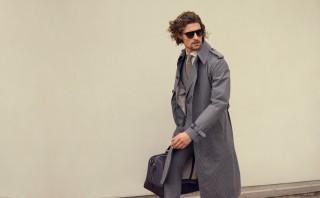 Moda uomo: trench code