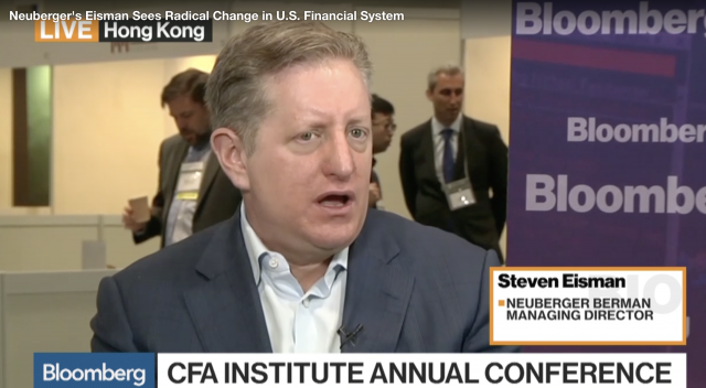 Il parere su Deutsche Bank di Steve Eisman, gestore di Neuberger Berman, in un'intervista rilasciata alla conferenza annuale del CFA Institute a Hong Kong