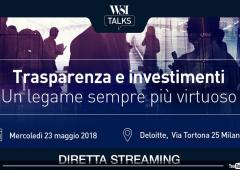 "WSI Talks, ""Trasparenza e investimenti"": video in diretta"