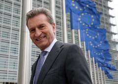 """Ue, Oettinger: """"mercati allontaneranno elettori da populisti"""""""