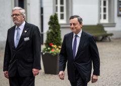 """Draghi: sulla fine del QE """"non è detta l'ultima parola"""""""