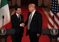 """Trump incontra Conte: """"Italia esempio in Ue per le politiche migratorie"""""""