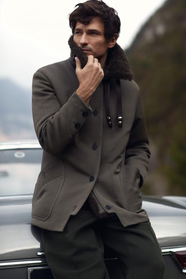 Giaccone e pantaloni Giorgio Armani Grooming by Lorenzo Zavatta @ facetofaceagency.com