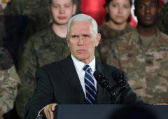 """Pence:  """"Aggirare sanzioni contro l'Iran allontanerà ulteriormente Usa e Ue"""""""