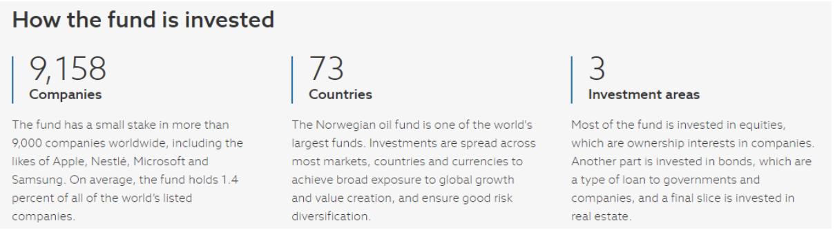 gli investimenti de fondo sovrano norvegese nell'azionario