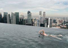 A Londra la piscina più alta del mondo sul tetto di un grattacielo