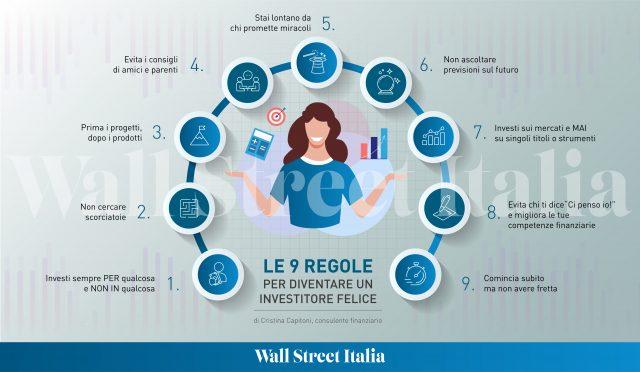 Le 9 regole dell'investitore felice
