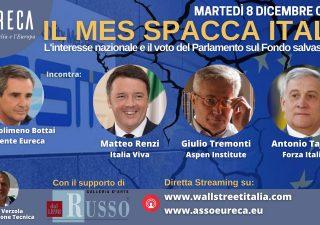 Mes: Eureca, tra Renzi, Tremonti e Tajani sfida in anteprima, martedì in diretta su Wall Street Italia