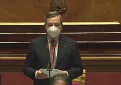 Draghi, l'intervento sulla fiducia al Senato (VIDEO)