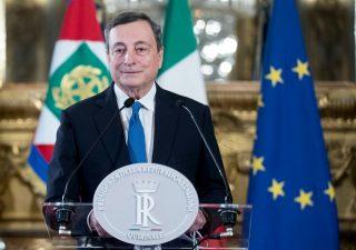 Mario Draghi al Quirinale per l'incontro con Mattarella