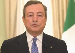 """Draghi: """"permettere al più presto un ritorno alla normalità"""" (VIDEO)"""
