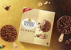 Ferrero lancia una nuova linea di gelati Rocher, Raffaello e Estathè