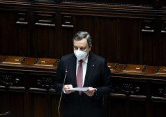 """Draghi presenta il Recovery plan e cita De Gasperi: """"Servono virtù e disinteresse"""""""