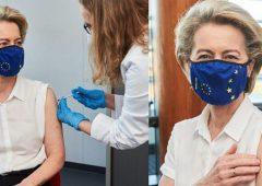 Von der Leyen vaccinata con Pfizer. Domani tocca a Merkel, con AstraZeneca