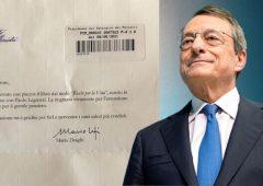 Ieri ho ricevuto una lettera da Mario Draghi…